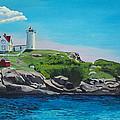 Nubble Lighthouse Sunrise by Stella Sherman