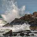 Nubble Lighthouse Waves 1 by Scott Thorp