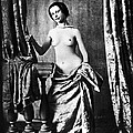 Nude And Curtains, C1850 by Granger