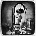 Nude And Mirror, C1850 by Granger
