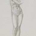 Nude Female Figure Study For Venus From The Pygmalion Series by Sir Edward Coley Burne-Jones