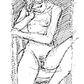 Nude Female Sketches 4 by Gordon Punt