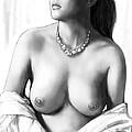 Nude Girl Drawing Art Sketch - 12 by Kim Wang