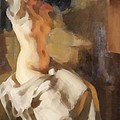 Nude In Fire Light by Anders Zorn