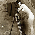 Nude In High Heel Shoes With Studio Camera Circa 1920 by California Views Archives Mr Pat Hathaway Archives