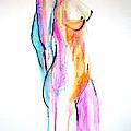 Nude In Watercolor by Julie Lueders