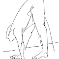 Nude Male Drawings 32 by Gordon Punt