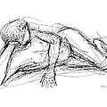 Nude Male Sketches 5 by Gordon Punt