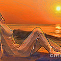 Nude On Beach by Jeff Breiman