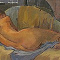 Nude On Chaise Longue by Pat Maclaurin