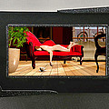 Nude Red Chaise 3d Lenticular Transparency by Peter J Sucy