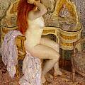 Nude Seated At Her Dressing Table by Carl Frieseke