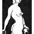 Nude Sketch 4 by Leonid Petrushin