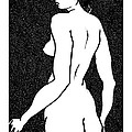 Nude Sketch 6 by Leonid Petrushin