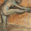 Nude Study For A Dancer At The Bar by Edgar Degas