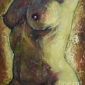 Nude Female Torso by Raija Merila