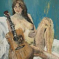 Nude With Guitar by Julene Franki