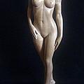 Nude Woman - Wood Sculpture by Ronald Osborne