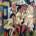 Nudes In Studio by Ernst Ludwig Kirchner