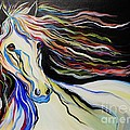 Nuella Horse With The White Shoulder by Janice Pariza