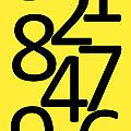 Numbers In Black And Yellow by Jackie Farnsworth