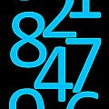 Numbers In Blue And Black by Jackie Farnsworth