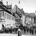 Nuremberg Street Scene by Underwood Archives