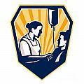 Nurse Tending Sick Patient Retro by Aloysius Patrimonio