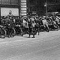 Ny Armored Motorcycle Squad  by Underwood Archives