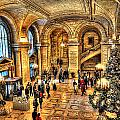Ny Library Foyer by Tina Baxter