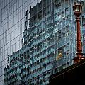 Ny Reflections With Lamp by Jean Noren