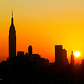 Ny  Sunrise For Thanksgiving by Regina Geoghan