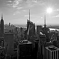 Ny Times Skyline Bw by S Paul Sahm