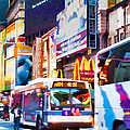 Ny Times Square Impressions Iv by Regina Geoghan