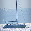 Nyack New York - Sailboat by Bill Cannon