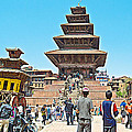 Nyatapola-tallest Pagoda In Nepal-in  by Ruth Hager