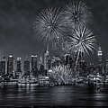 Nyc Celebrate Fleet Week Bw by Susan Candelario