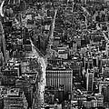 Nyc Downtown - Black And White by Steven Hlavac
