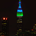 Nyc Salutes Seattle Seahawks by Regina Geoghan