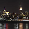 Nyc Skyline At Night by Terry DeLuco