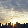 Nyc Sunrise Panorama by Lilliana Mendez