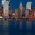 Nyc Twilght Pano by Jerry Fornarotto