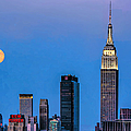 Nyc Under The Supermoon by Regina Geoghan