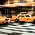Nyc Yellow Cabs by Hannes Cmarits