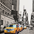 Nyc Yellow Cabs by Paulette B Wright