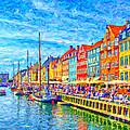Nyhavn In Denmark Painting by Antony McAulay