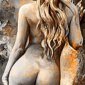 Nymph 02 - Digital Colored Rust by Emerico Imre Toth