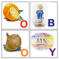 O Boy Art Alphabet For Kids Room by Irina Sztukowski