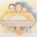 O Come Little Children - Christmas Card by Michele Myers