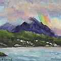 Oahu North Shore Rainbow by Karin  Leonard
